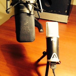 Trusted AT4050 (left) vs new wee Apogee Mic