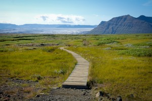"""A Path to Somewhere Wonderful.""  --Photo taken by yours truly during my trip to Iceland on my first hike."