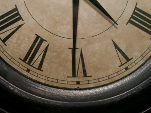 clock hands time roman numerals
